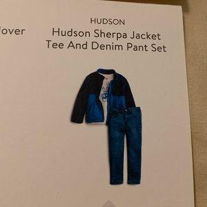 NWT Hudson Sherpa Jacket, Tee, and Denim Set